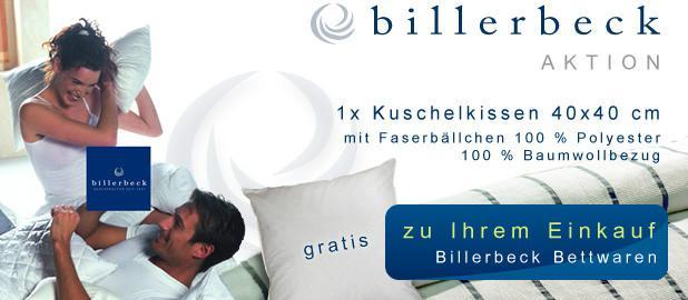 Gratis Kuschelkissen zu Ihrer Bestellung Billerbeck Bettwaren