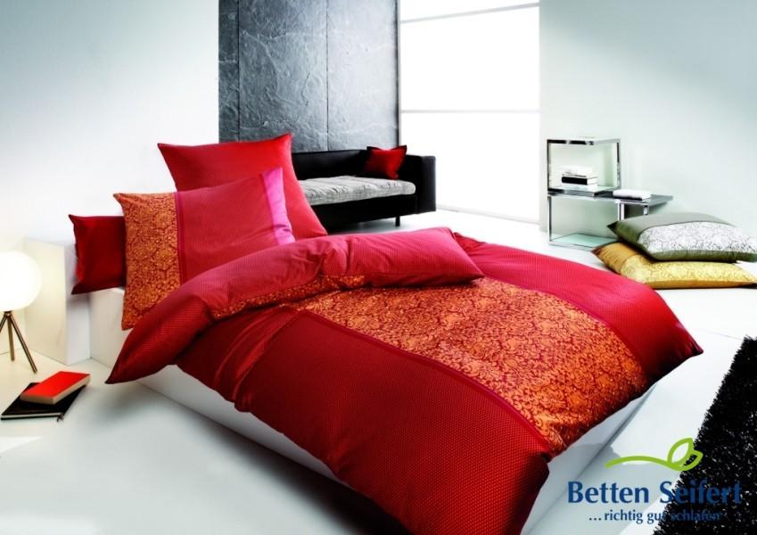 fleuresse bettw sche mako satin modern classic rot ebay. Black Bedroom Furniture Sets. Home Design Ideas
