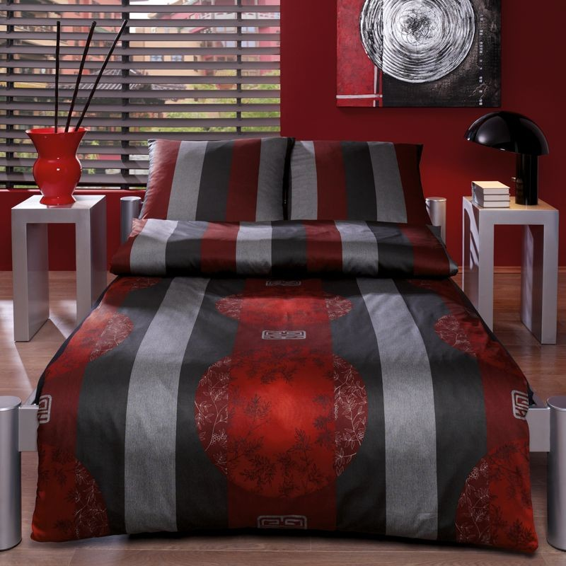 bettw sche mako satin rot home image ideen. Black Bedroom Furniture Sets. Home Design Ideas