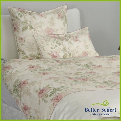 bettw sche mako satin momm bella creme rosa blumen. Black Bedroom Furniture Sets. Home Design Ideas