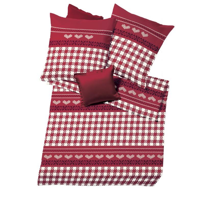 castores ropa de cama fleuresse aspen rosas caninas biberbettw sche corazoncito karo rojo ebay. Black Bedroom Furniture Sets. Home Design Ideas