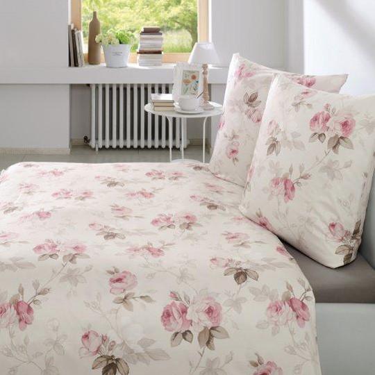 interlock jersey bettw sche estella fraise weich mit lila rosen rei verschluss ebay. Black Bedroom Furniture Sets. Home Design Ideas