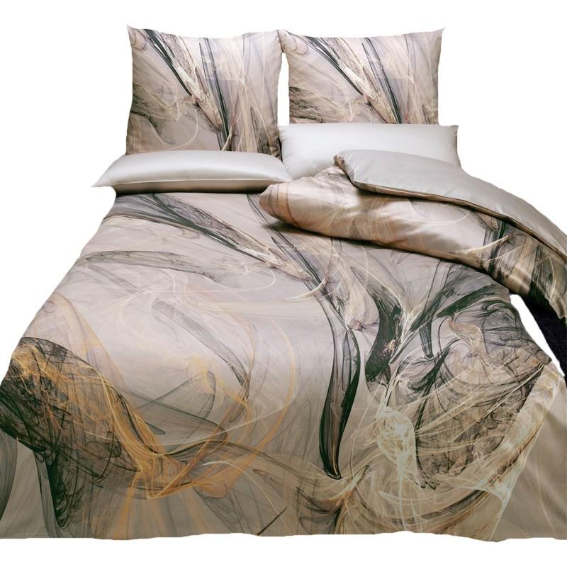 moderne schweizer satin bettw sche estella reto sand innovativem digitaldruck ebay. Black Bedroom Furniture Sets. Home Design Ideas