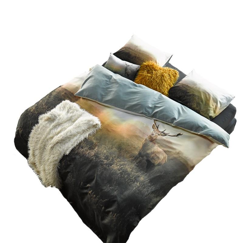 essenza home hugo mint satinbettw sche mit hirsch satin bettw sche rei verschuss. Black Bedroom Furniture Sets. Home Design Ideas