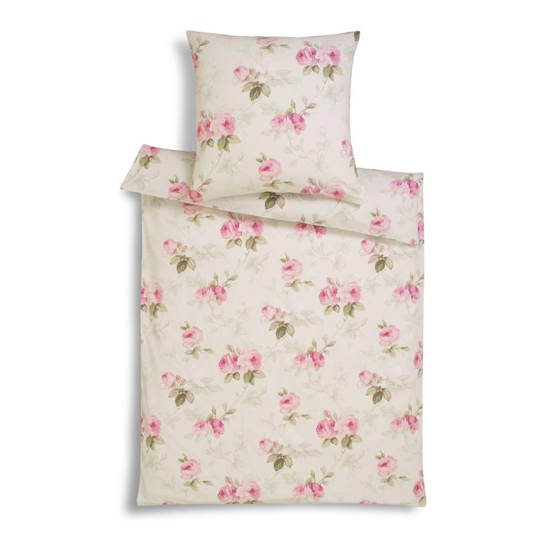 flanellbettw sche estella montreux altrosa mit rosen weich warm rei verschluss ebay. Black Bedroom Furniture Sets. Home Design Ideas