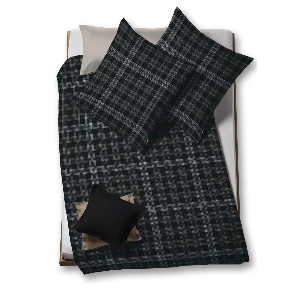 flanell bettw sche fleuresse lech schwarz kariert bettw sche flanell bettw sche. Black Bedroom Furniture Sets. Home Design Ideas