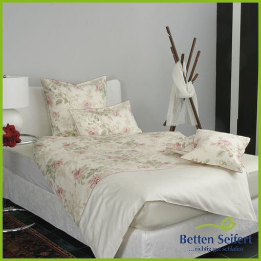 bettw sche mako satin momm bella creme rosa bettw sche. Black Bedroom Furniture Sets. Home Design Ideas