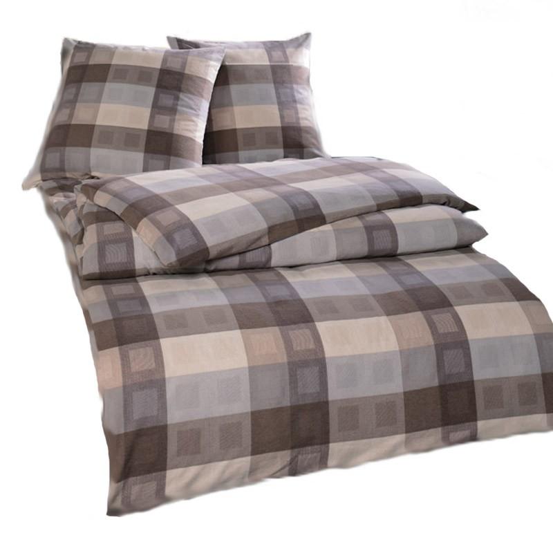 estella flanellbettw sche kamor maron 155 x 220 cm bettw sche flanell bettw sche. Black Bedroom Furniture Sets. Home Design Ideas