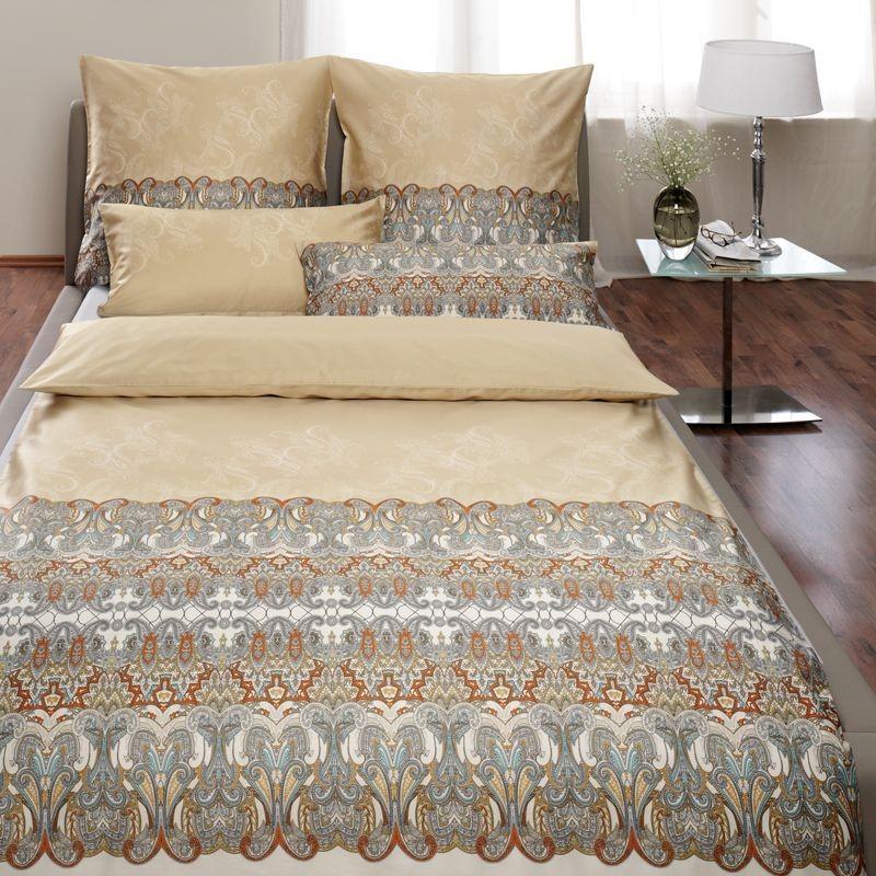 estella bettw sche schweizer satin mont tendre nougat. Black Bedroom Furniture Sets. Home Design Ideas