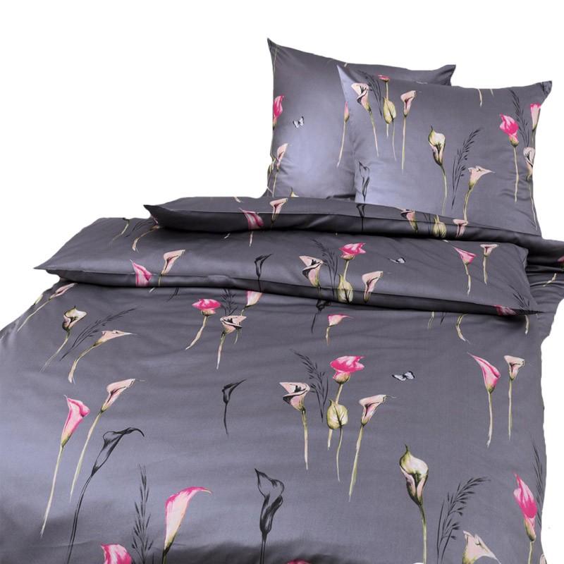 mako satin estella bettw sche gianna anthrazit 155 x 200 cm bettw sche mako satin bettw sche. Black Bedroom Furniture Sets. Home Design Ideas
