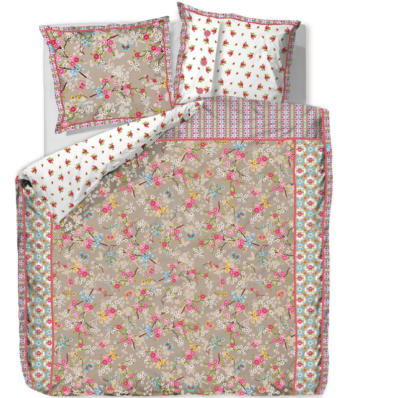 bettw sche pip studio chinese blossom khaki bettw sche. Black Bedroom Furniture Sets. Home Design Ideas